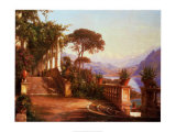 Lodge on Lake Como Posters by Carl Frederic Aagaard