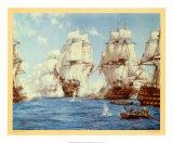 La battaglia di Trafalgar Poster di Montague Dawson