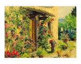 Tuscan Courtyard Prints by Gordon Breckenridge