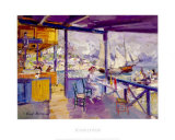 Terrace on a Sea Shore Print by Konstantin A. Korovin
