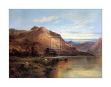 Lakeside Rendezvous the Kirk at Arrochar Print by Alfred Fontville de Breanski