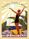 Sur la Cote d'Azur Plakater af Roger Broders