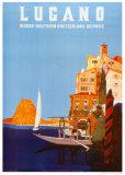 Lugano Posters av Daniele Buzzi