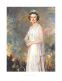 Her Majesty Queen Elizabeth II Print by R. Macarron