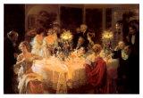The Dinner Party Poster von Jules-Alexandre Grün