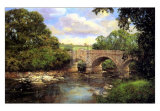 Old Bridge, Derbyshire Plakat af Clive Madgwick