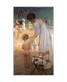 The Bathing Hour Print by Emanuel Phillips Fox