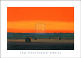Harvest Evening Print by Paul Evans