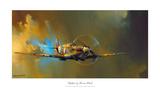 Jachtvliegtuig Spitfire Poster van Barrie Clark