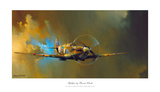 Spitfire Poster von Barrie Clark