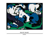 Horses Poster by Franz Marc