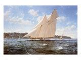 The Racing Schooner, Westward Prints by Steven Dews