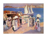 The Quay at Dinard Prints by Emanuel Phillips Fox