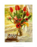 Tulips and Anemones Art by Richard Akerman
