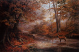 Woodland Stream Art by Elizabeth Halstead