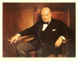 Sir Winston Churchill Prints by Arthur Pan