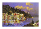 Portofino Sunlight Art by L. Sollazzi