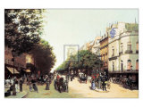 Le Boulevard des Italiens Prints by Edmond Georges Grandjean