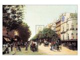 Le Boulevard des Italiens Prints by Edmond Georges Grandjean