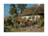 Cottage Garden Posters by Peder Mork Monsted