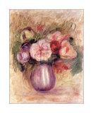 Vase de Fleurs Posters by Pierre-Auguste Renoir