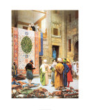 The Carpet Market Prints by Jean Leon Gerome
