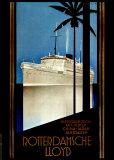 Rotterdamsche Lloyd Posters by Johann Anton Willebrord von Stein