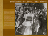 History Through A Lens - Integration at Central High School, Art Print