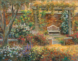 Patio Gardens II Art by Michael Longo
