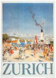 Zürich Affischer av Otto Baumberger