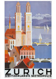 Zurich Metropolis Poster by Otto Baumberger