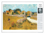 Masterworks of Art - Farmhouse Prints by Vincent van Gogh