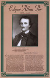 American Authors of the 19th Century - Edgar Allan Poe Poster