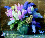 Delphiniums Poster by Joseph Henry Sharp