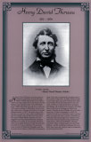 American Authors of the 19th Century - Henry David Thoreau Print