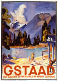 Gstaad Poster von Otto Baumberger