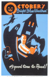 Historic Reading Posters - October Bright Blue Weather Prints