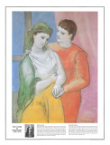 Masterworks of Art - The Lovers Print by Pablo Picasso