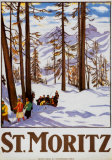 St. Moritz Posters van Emil Cardinaux