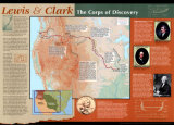 Lewis And Clark Map Posters
