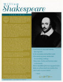 Great British Writers - William Shakespeare Poster