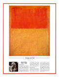 Twentieth Century Art Masterpieces -Mark Rothko - Orange and Tan Posters por Mark Rothko