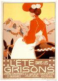 Sommer in Graubünden, Schweiz Poster von Jacob Bollsschweiller