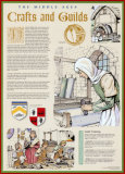 The Middle Ages- The The Crafts and Guilds Wall Poster