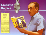 Great Black Americans - Langston Hughes Art