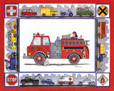 Rescue Trucks Posters by Marnie Bishop Elmer