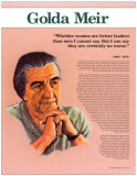 Heroes of the 20th Century - Golda Meir Wall Poster