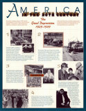 America in the 20th Century - The Great Depression Wall Poster