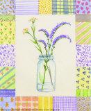 Mason Jar Patchwork I Print by  Aldana