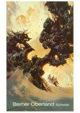 Berner Oberland Poster by Heinrich Berann